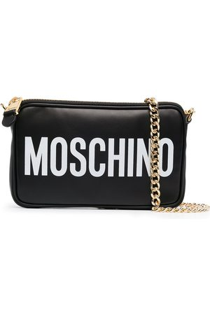 Moschino Logo-print zipped shoulder bag