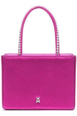 Amina Muaddi Satin crystal-embellished mini bag