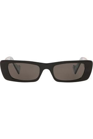 Gucci Logo-plaque rectangular-frame sunglasses