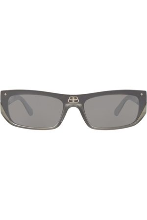 Balenciaga Shield rectangle-frame sunglasses - Grey