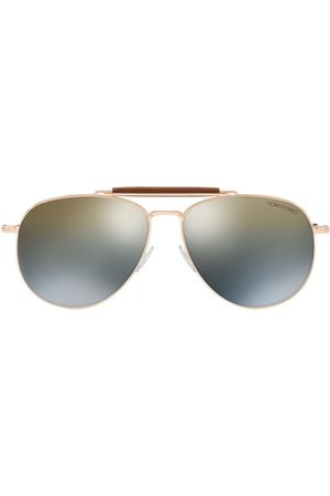 Tom Ford Aviator-frame mirror-lens sunglasses