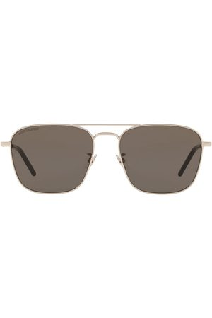 Saint Laurent Square-frame double-bridge sunglasses