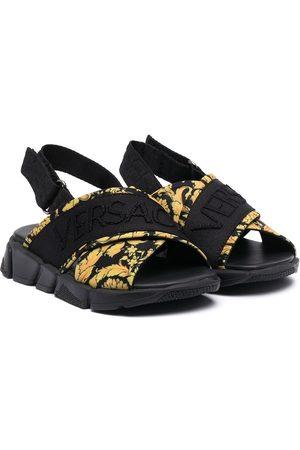 VERSACE Cross-over strap sandals