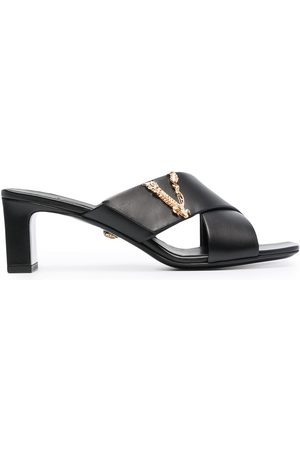 VERSACE Virtus crossover mule sandals
