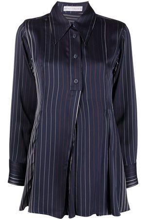 PALMER / HARDING Kanzi pinstripe pleated blouse