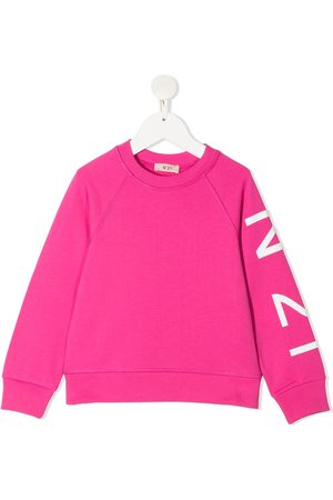 Nº21 Logo-print sleeve sweatshirt