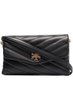 Tory Burch Chevron leather chain wallet