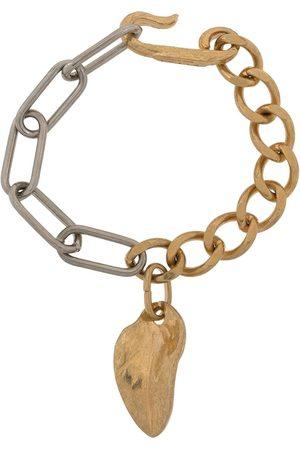 Marni Leaf-pendant chain bracelet