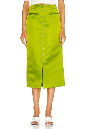 Rosie Assoulin Button Down Pencil Skirt in