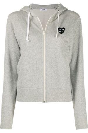 Comme des Garçons Overlapping heart hoodie - Grey