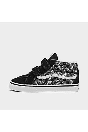 Vans Casual Shoes - Boys' Toddler Dino Glow Skeleton SK8-Mid Reissue V Casual Shoes in
