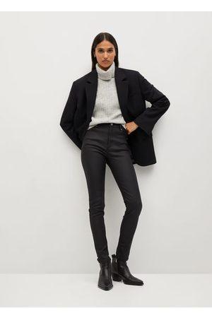 MANGO Noa coated high-waist skinny jeans