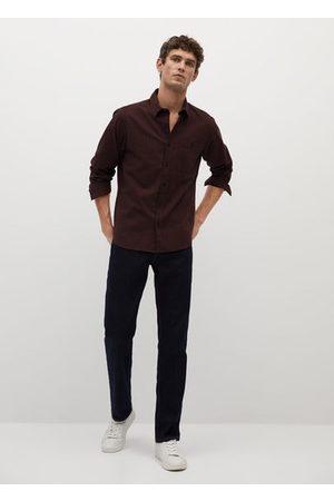 MANGO Regular fit checked flannel shirt