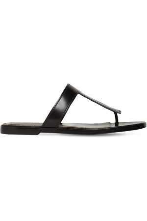Tom Ford Women Sandals - 10mm Tf Leather Thong Sandals