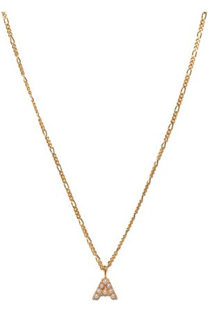 Otiumberg Alphabet Pearl & 14kt Gold-vermeil A-m Necklace - Womens - Pearl