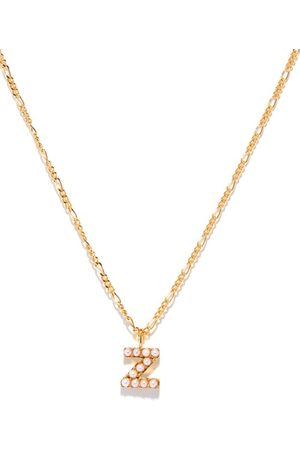 Otiumberg Women Necklaces - Alphabet Pearl & 14kt Gold-vermeil N-z Necklace - Womens - Pearl