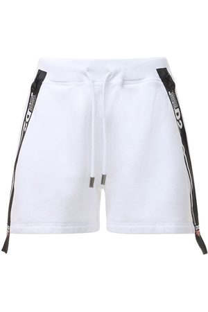 Dsquared2 D2 Line Loose Cotton Jersey Shorts