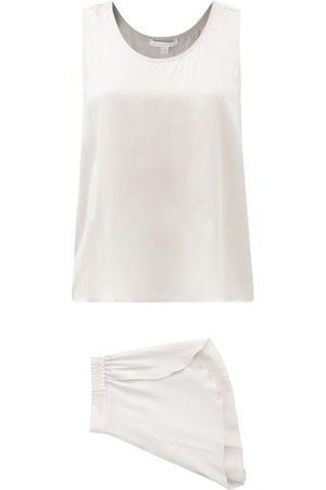 Lunya Layered-back Silk Pyjamas - Womens - Grey
