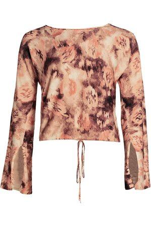 Ramy Brook Women's Printed Ramsey Long-Sleeve Top - - Size Large