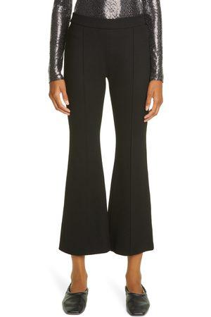 ROSETTA GETTY Women Wide Leg Pants - Women's Crop Flare Knit Pants