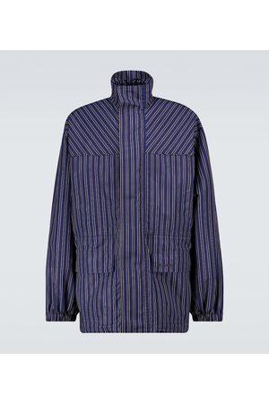 Balenciaga Striped lightweight parka jacket