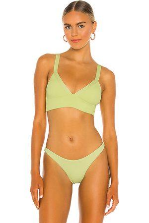 L*Space Vera Bikini Top in Green.