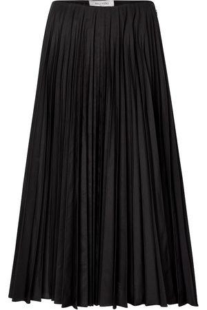 VALENTINO Micro-faille midi skirt