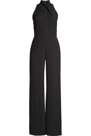 Black Halo Women's Zana Twist-Neck Jumpsuit - - Size 12