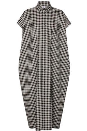 Balenciaga Checked cotton poplin shirt dress