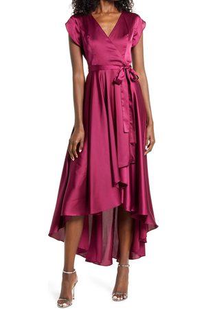 Lulus Women's Fallen For You Satin High/low Dress