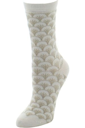 Natori Women's Fretwork Crew Socks - - Size 9-11