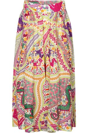 Etro Printed cotton culottes