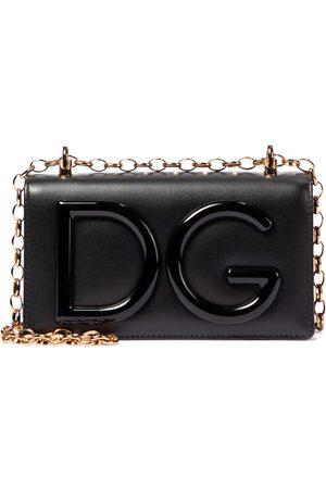 Dolce & Gabbana DG Logo Small leather crossbody bag