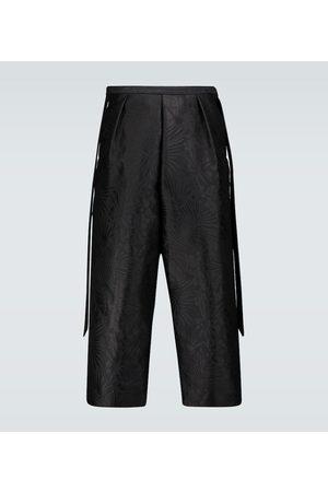 Saint Laurent Floral jacquard shorts