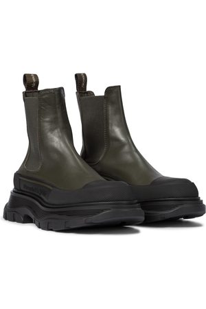 Alexander McQueen Tread Slick leather Chelsea boots