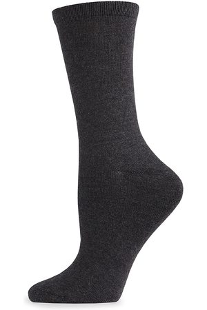 Natori Women Socks - Women's Flat-Knit Crew Socks - - Size 9-11