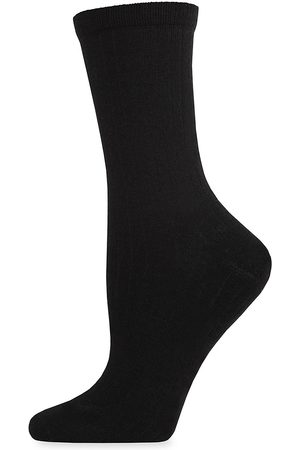 Natori Women's Ribbed Crew Socks - - Size 9-11