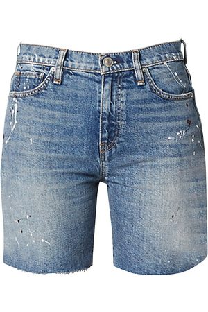 Hudson Women's Hana Mini Denim Biker Shorts - - Size 34 (16)