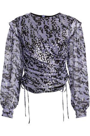 IRO Women's Kleok Metallic Draped Blouse - - Size 36 (4)