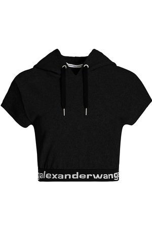 Alexander Wang Women's Stretch Corduroy Hooded T-Shirt - - Size Large