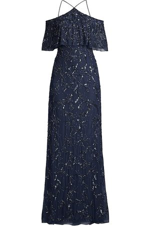 Aidan Mattox Women's Beaded Off-The-Shoulder Gown - - Size 10