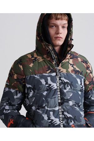 Superdry Men Jackets - Camo Mix Sports Puffer Jacket