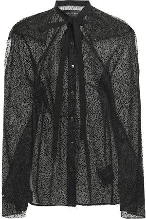 Roland Mouret Woman Gaffney Grosgrain-trimmed Flocked Tulle Top Size 10