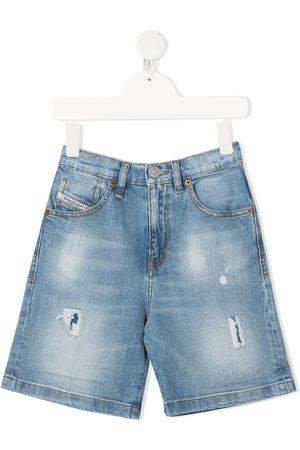 Diesel Boys Shorts - Straight-leg denim shorts