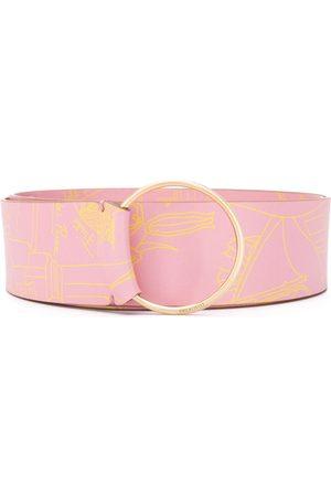Emilio Pucci Circular buckle belt