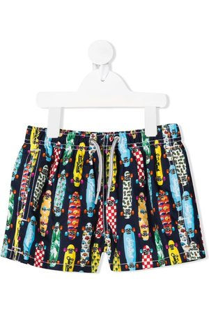 MC2 SAINT BARTH Skateboard-print swim shorts - Multicolour
