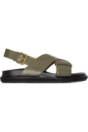 Marni Women Sandals - Fussbett colour-block leather sandals