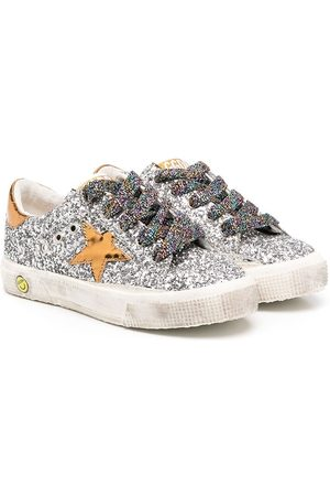 Golden Goose Super-Star glittery low-top sneakers