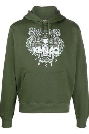 Kenzo Tiger motif embroidered hoodie