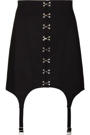 DION LEE Suspender-detail corset mini skirt